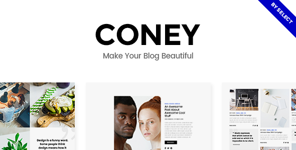 Coney v1.1 — A Trendy Theme for Blogs and Magazines