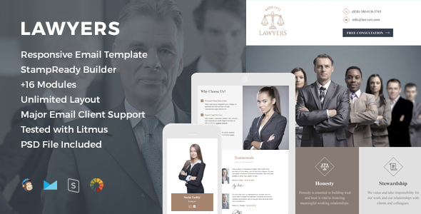 Lawyers Responsive Email Template