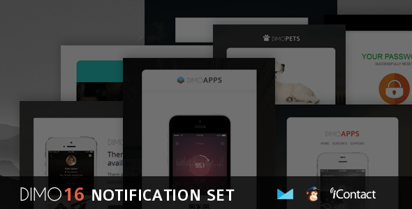 Dimo — 16 Email Notification Template Set + Online Access