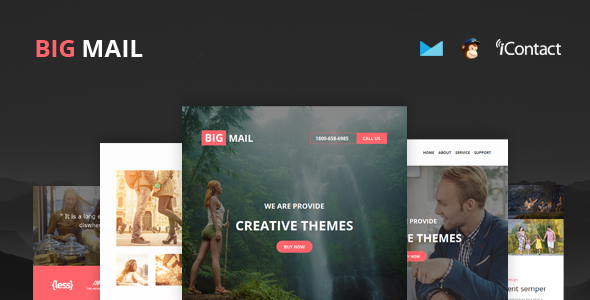 Big Mail — Responsive E-mail Template + Online Access