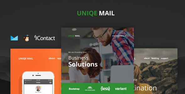 Uniqe Mail — Responsive Email set + Online Access