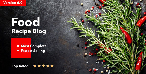 Neptune v6.1 — Theme for Food Recipe Bloggers & Chefs