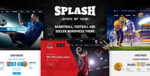 Splash v3.3 — Sport WordPress Theme for Football, Soccer