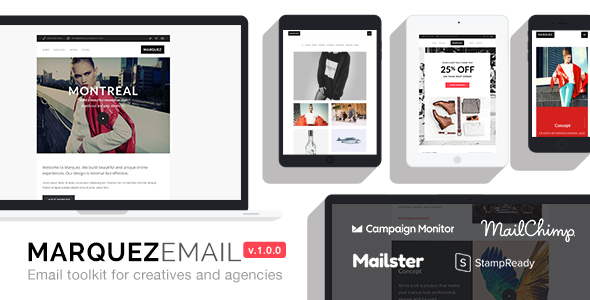 Marquez — Responsive Email for Agencies: 70+ Sections + StampReady Builder + MailChimp Integration