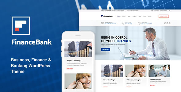 FinanceBank v1.6 — Business, Finance & Banking WordPress Theme