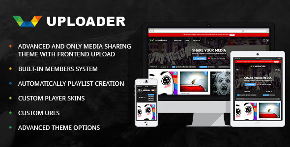 Uploader v2.2.3 — Advanced Media Sharing Theme
