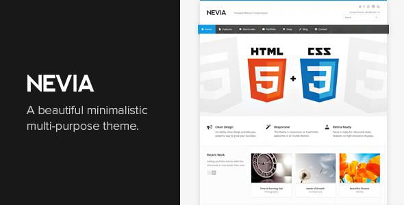 Nevia v1.5.14 — Responsive Multi-Purpose WordPress Theme