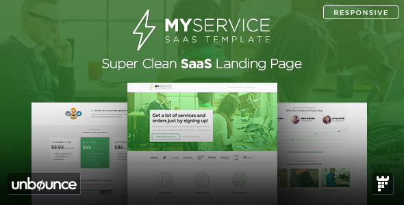 MYSERVICE — SaaS Product Unbounce Landing Page Template