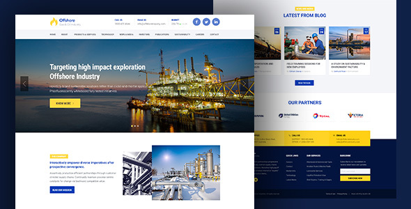 Offshore — Industrial Website Template Responsive HTML5