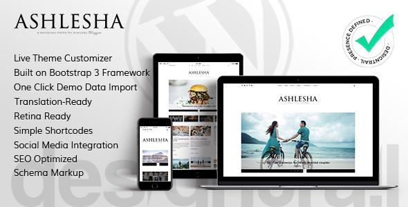 Ashlesha v1.0 — Blog WordPress Theme
