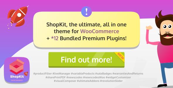 ShopKit v1.1.0 — The WooCommerce Theme