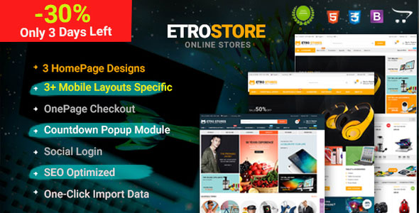 EtroStore — Premium Multipurpose Digital OpenCart Theme