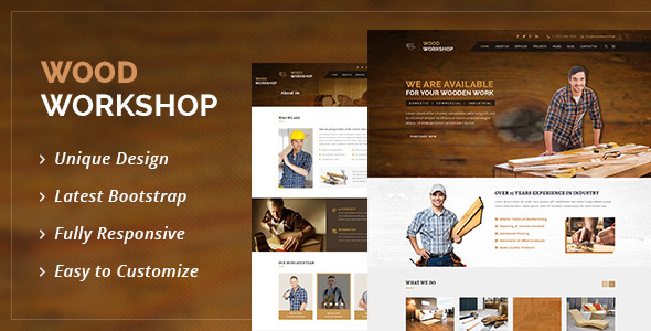 Wood Workshop — Carpenter and Craftman HTML Template