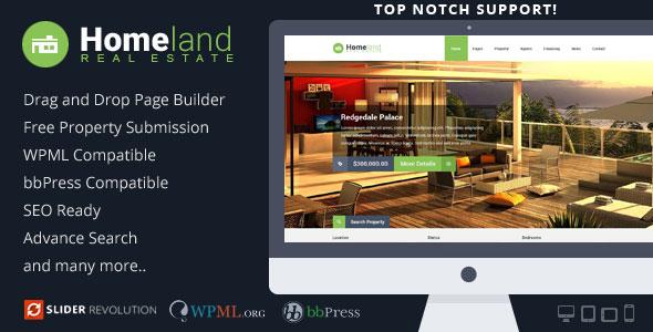 Homeland v3.1.5 — Responsive Real Estate WordPress Theme