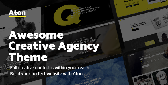 Aton v1.1 — A Creative Theme for Modern Design Agencies