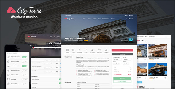 CityTours v2.3.2 — Hotel & Tour Booking WordPress Theme