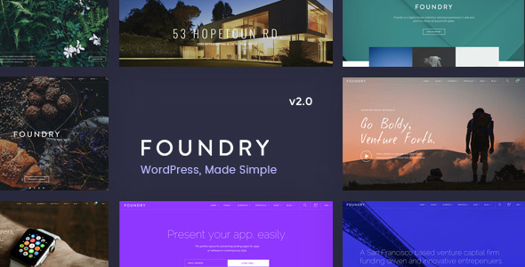 Foundry v2.0.9 — Multipurpose, Multi-Concept WP Theme