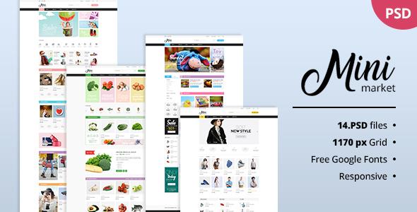 MiniMarket — Multi-Purpose Supermarket Grocery PSD Template