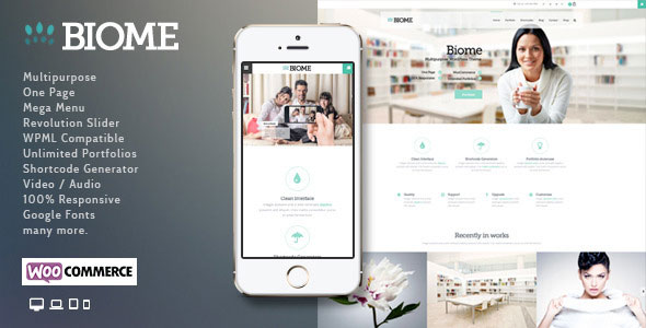 Biome v1.6 — Multipurpose One Page WordPress Theme