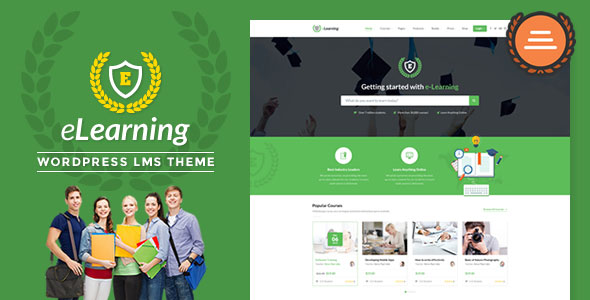 LMS WordPress Theme — eLearning WP v3.0