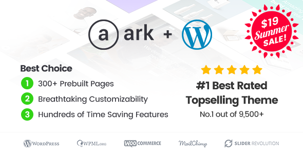 The Ark v1.20.0 — Multi-Purpose WordPress Theme
