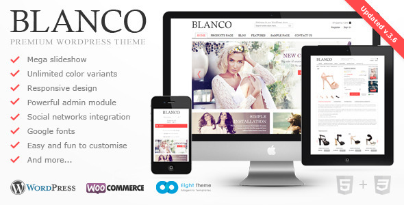 Blanco v3.6 — Responsive WordPress Woo/E-Commerce Theme