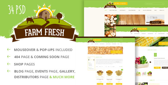 Farm Fresh — Organic Products PSD Template