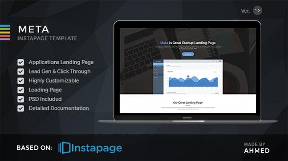 Meta startup — Instapage Landing Page