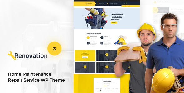 Renovation v3.0.1 — Home Maintenance, Repair Service Theme