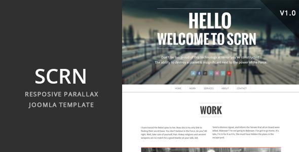 SCRN v2.1 — Responsive Parallax Joomla Template