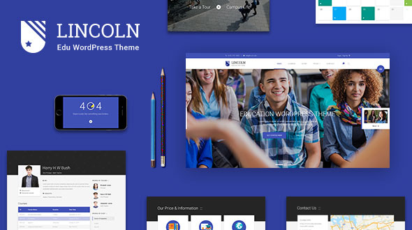 Lincoln v4.1.6 — Education Material Design WordPress Theme