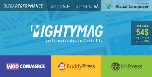 MightyMag v2.1 — Magazine, Shop, Community WP Theme