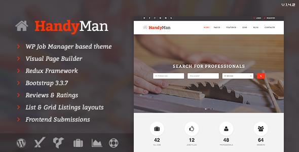 Handyman v1.4.2 — Job Board WordPress Theme