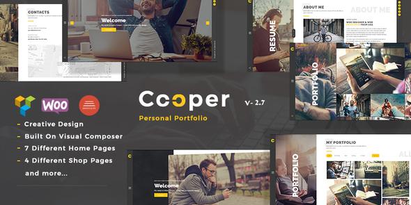 Cooper v2.9 — Creative Responsive Personal Portfolio Theme