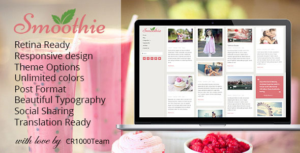 Smoothie v1.4.4 — Retina Responsive WordPress Blog Theme