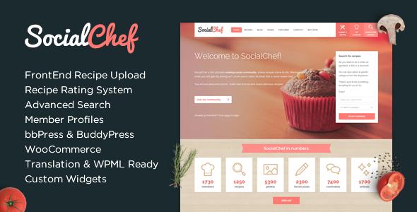 SocialChef v1.2.9 — Social Recipe WordPress Theme