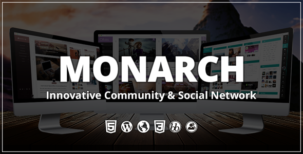 Monarch v2.0.0 — Innovative WordPress Community Theme