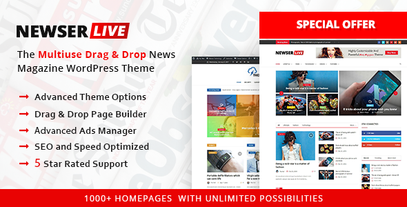 Newser v1.0.5 — The Multiuse Drag and Drop News/Magazine
