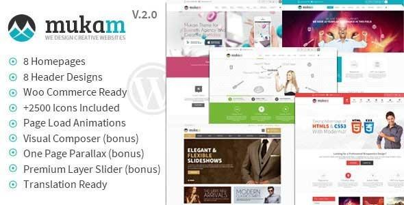Mukam v2.2.3 — Limitless Multipurpose WordPress Theme