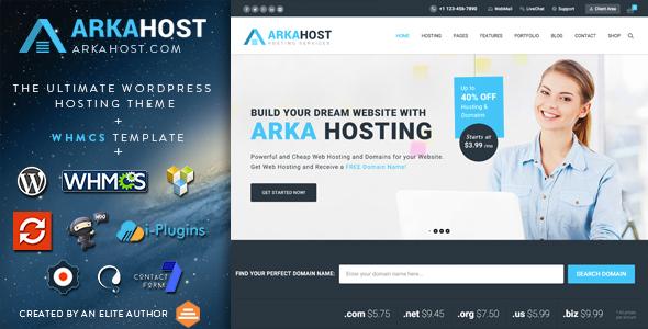 Arka Host v5.1.4 — WHMCS Hosting, Shop & Corporate Theme