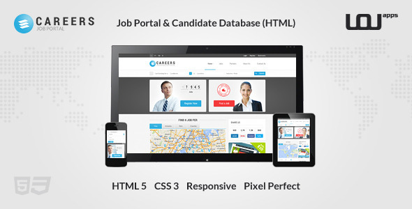 CAREERS — Job Portal & Candidate Database (HTML) — Updated