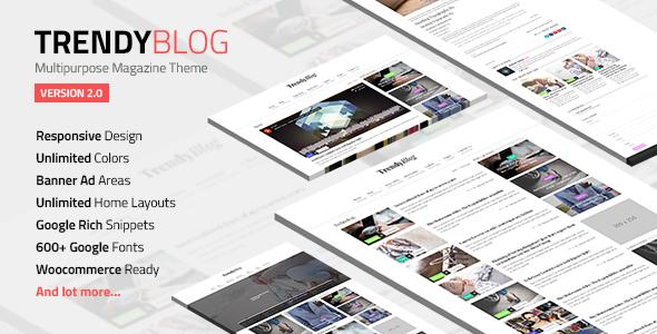 TrendyBlog v2.1.0 — Multipurpose Magazine Theme
