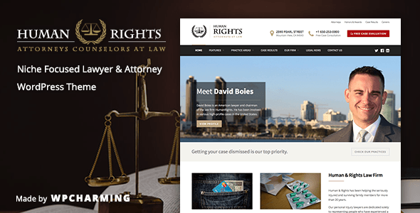 HumanRights v1.1.4 — Lawyer and Attorney WordPress Theme