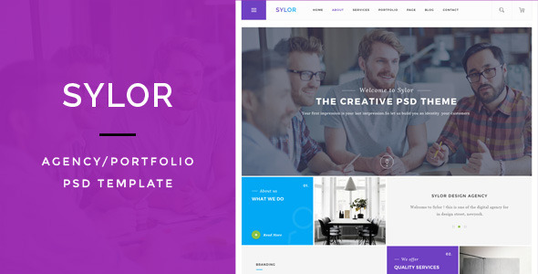 Sylor — Agency/Portfolio PSD Template