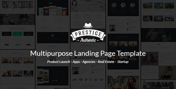 Prestige — Responsive Multi-Purpose Landing Page