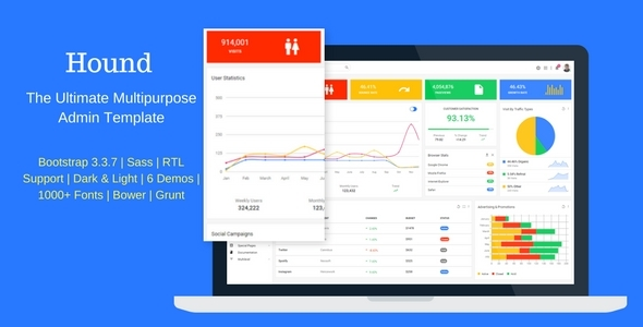 Hound — The Ultimate Multipurpose Admin Template