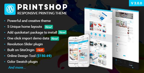 Printshop v3.1.1 — WordPress Responsive Printing Theme