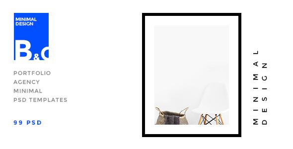 B&C — Portfolio & Agency minimal PSD Template
