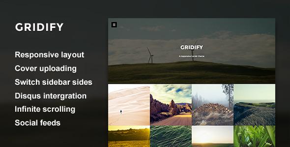Gridify — Fullsceen Grid Tumblr Theme