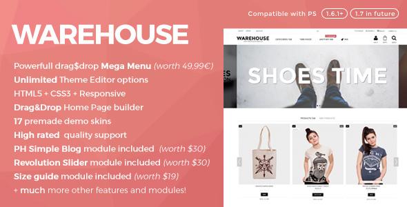 Warehouse v4.0b — Responsive Prestashop 1.6 & 1.7 theme